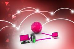 Trådlöst nätverkandesystem Fotografering för Bildbyråer
