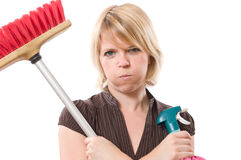 tråkigt hushållsarbete royaltyfria bilder