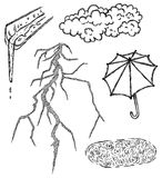 Tråkigt klimat royaltyfri illustrationer