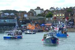 Trålarelopp Folkestone England fotografering för bildbyråer