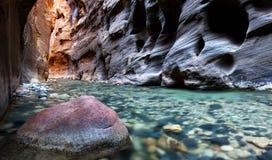 Trånga passet, Zion nationalpark, Utah Royaltyfri Foto