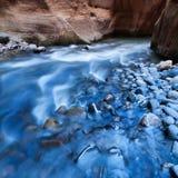 Trångt pass Zion NP Fotografering för Bildbyråer