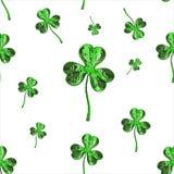 Trèfle d'effet du jour 3d de St Patrick au-dessus de fond de l'espace Salutation décorative sale ou carte postale Texture sans jo Photo stock