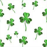 Trèfle d'effet du jour 3d de St Patrick au-dessus de fond de l'espace Salutation décorative sale ou carte postale Texture sans jo Images libres de droits