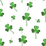 Trèfle d'effet du jour 3d de St Patrick au-dessus de fond de l'espace Salutation décorative sale ou carte postale Texture sans jo Photos libres de droits