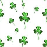 Trèfle d'effet du jour 3d de St Patrick au-dessus de fond de l'espace Salutation décorative sale ou carte postale Texture sans jo Photographie stock libre de droits