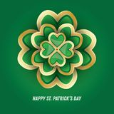 Trèfle du jour 3d du ` s de St Patrick Photographie stock libre de droits