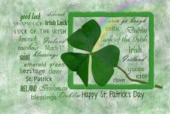 Trèfle irlandais pour des vacances irlandaises image libre de droits