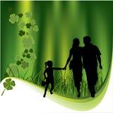 Trèfles et famille illustration libre de droits