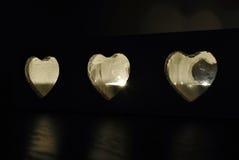 Très candleligh de forme d'amoureux Photographie stock libre de droits