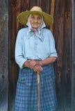 Très dame âgée du village images libres de droits
