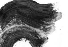 TRÈS résolution de TAILLE Fond abstrait d'encre Style de marbre Texture noire et blanche de course de peinture Macro image de Photo libre de droits