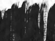 TRÈS résolution de TAILLE Fond abstrait d'encre Style de marbre Texture noire et blanche de course de peinture Macro image de Photographie stock
