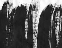 TRÈS résolution de TAILLE Fond abstrait d'encre Style de marbre Texture noire et blanche de course de peinture Macro image de Images libres de droits