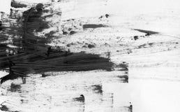 TRÈS résolution de TAILLE Fond abstrait d'encre Style de marbre Texture noire et blanche de course de peinture Macro image de Image stock