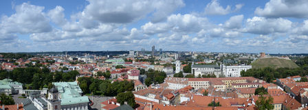 Très salut vue panoramique de recherche de Vilnius, Lithuanie Image stock
