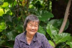 Très sourire de dame âgée Photos stock