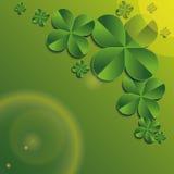 Trébol de cuatro hojas stock de ilustración