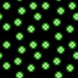 Trébol de neón verde, símbolo de la suerte, fondo inconsútil del vector floral imagen de archivo libre de regalías