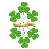 Trébol del día del St. Patrick Imagen de archivo