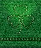 Trébol del día del St. Patrick de los pantalones vaqueros Imagenes de archivo