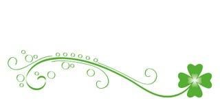 Trébol verde de la hoja del zarcillo cuatro stock de ilustración