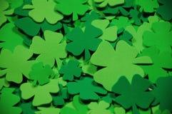 Tréboles de la hoja del verde cuatro Fotos de archivo libres de regalías