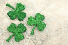 Tréboles del día del St Patricks Imagenes de archivo