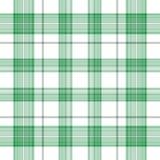 Tréboles irlandeses de la tela escocesa Imagen de archivo libre de regalías