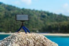 Trépied pour le téléphone photo libre de droits