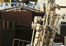Trépieds métalliques de cinéma prêts à être employé photos libres de droits