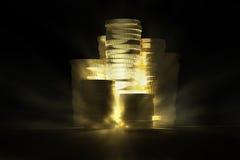 Trésor brillant d'or images stock
