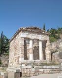 Trésor des Athéniens à l'oracle de Delphes Images libres de droits