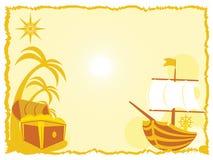Trésor et bateau Images libres de droits