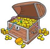 trésor ouvert de coffre Image stock