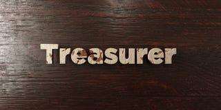 Trésorier - titre en bois sale sur l'érable - image courante gratuite de redevance rendue par 3D Photo stock