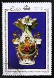 trésors du musée métropolitain de La Havane, de la porcelaine de ` de série et des mosaïques dans le musée métropolitain, ` de La Images libres de droits