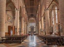 Trévise - intérieur d'église de Saint-Nicolas Photo stock
