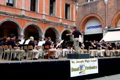 Trévise, Italie : Concert d'orchestre dans la place principale Photographie stock