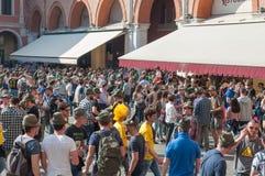 TRÉVISE, ITALIE - 13 MAI : assemblée nationale des troupes alpines de vétérans italiens image stock