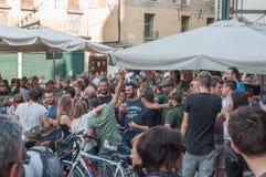 TRÉVISE, ITALIE - 13 MAI : assemblée nationale des troupes alpines de vétérans italiens images stock
