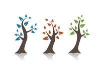 Três árvores ilustração royalty free