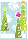 Três árvores do feriado Foto de Stock Royalty Free