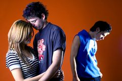 Três adolescentes ocasionais Fotografia de Stock
