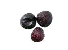 Três ameixas secas Foto de Stock