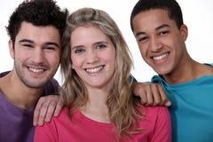 Três amigos Imagens de Stock Royalty Free
