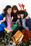 Três amigos felizes Imagem de Stock Royalty Free