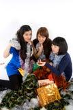 Três amigos felizes Fotografia de Stock