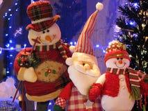 Três amigos felizes no Natal Fotografia de Stock Royalty Free