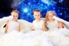 Três anjos Fotografia de Stock